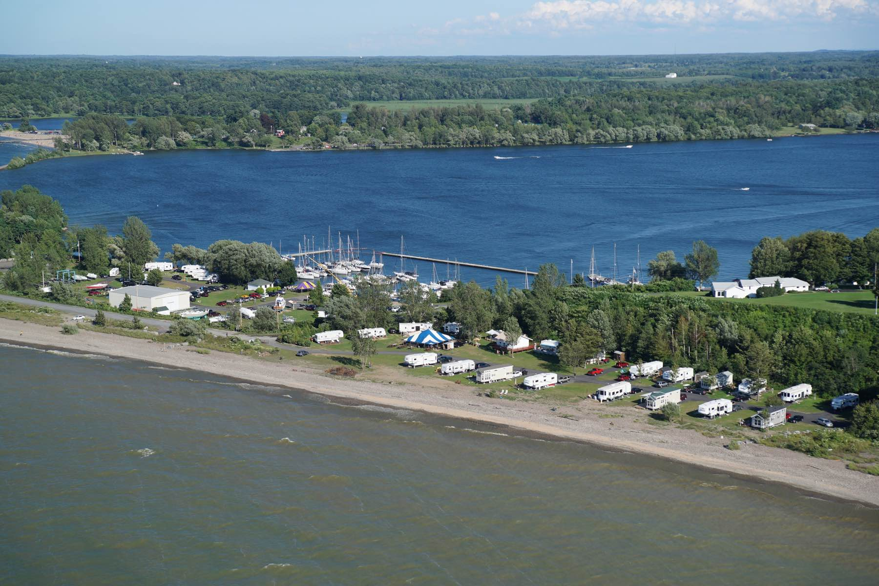 Aerial photo of Fair Point Marina RV Resort