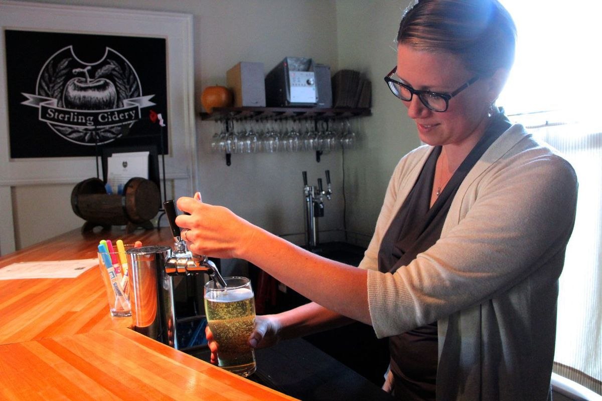 The taps at Sterling Cidery in Fair Haven