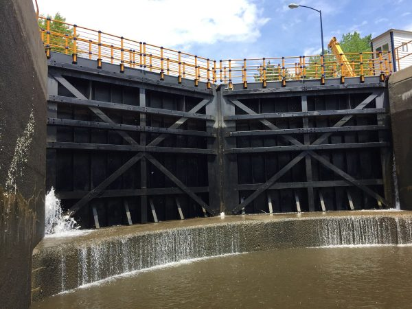Picture of a NYS canal lock